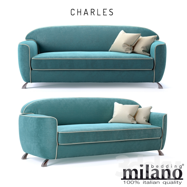 Sofa Bed Charles Milano Bedding