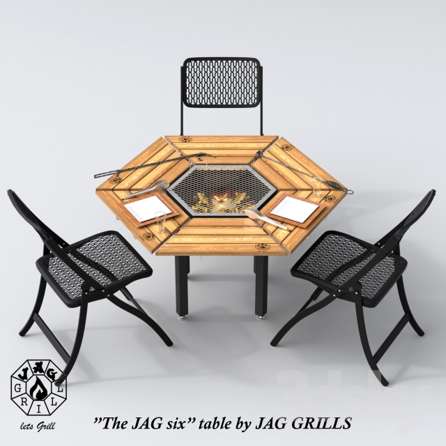 3d models table chair jag 6 by jag grills. Black Bedroom Furniture Sets. Home Design Ideas