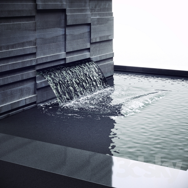 3d models: Other decorative objects - Waterfall for the pool