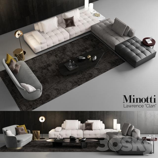 3d Models Sofa Minotti Lawrence Clan Seating 3