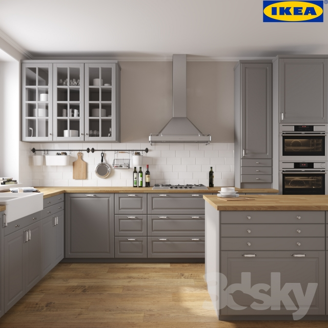 3d models kitchen ikea bodbyn. Black Bedroom Furniture Sets. Home Design Ideas