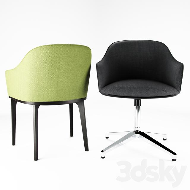 3d models chair vitra softshell. Black Bedroom Furniture Sets. Home Design Ideas