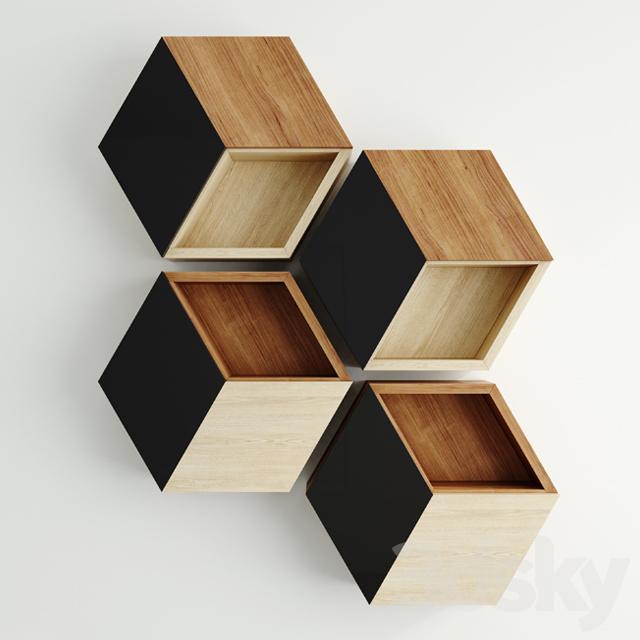 3d Models Other Hexagon Shelf