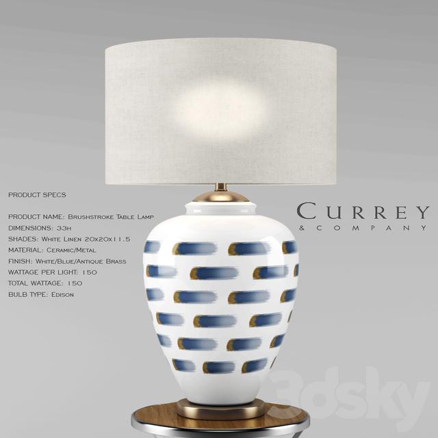 Brushstroke Table Lamp   Currey U0026 Company