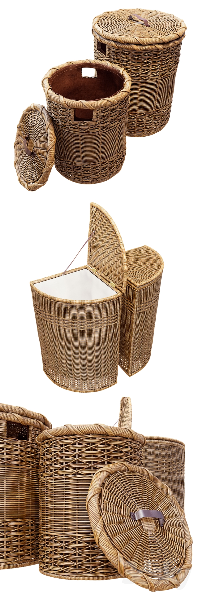 3d Models Bathroom Accessories Wicker Basket For Clothes