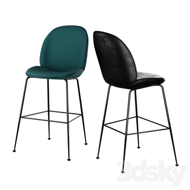 3d Models Chair Gubi Beetle Bar Chair