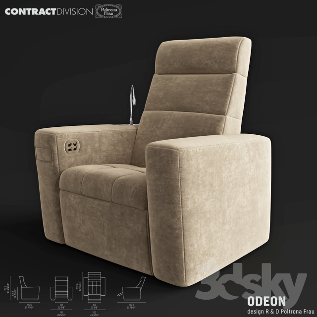 Surprising 3D Models Arm Chair Poltrona Frau Odeon Evergreenethics Interior Chair Design Evergreenethicsorg