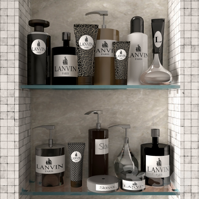 3d models bathroom accessories decor for bathroom 02 for Model home bathroom decor