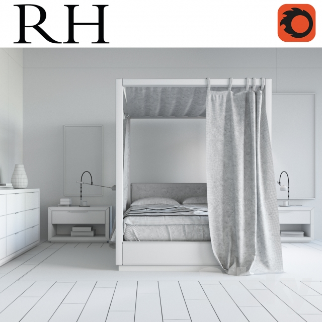 3d Models Other Restoration Hardware Modern Bedroom