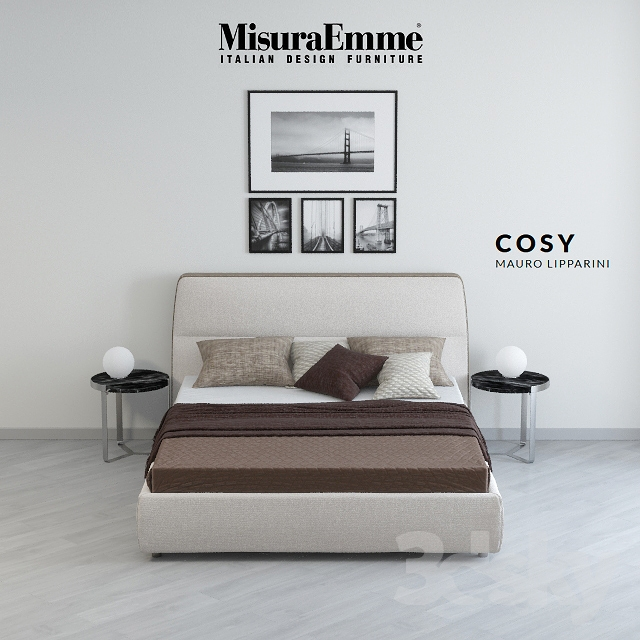 3d models bed bed misuraemme cozy for Misuraemme bed