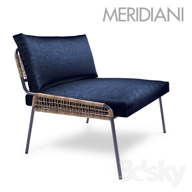 Modern outdoor patio furniture - 3d Models Arm Chair Zoe Armchair By Meridiani