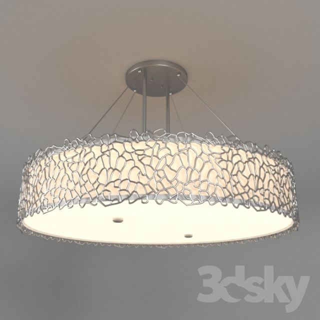 Red Coral Chandelier With 3 Lights: Silver Coral 4 Light Oval