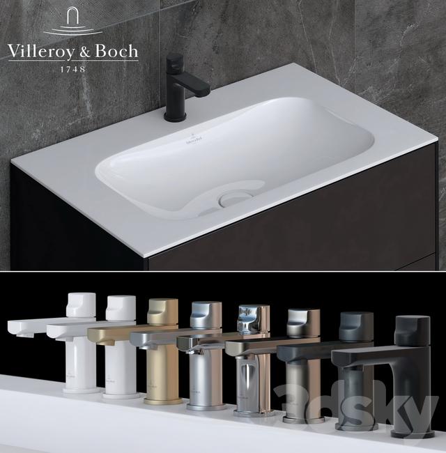 3d models wash basin villeroy boch finion cult. Black Bedroom Furniture Sets. Home Design Ideas