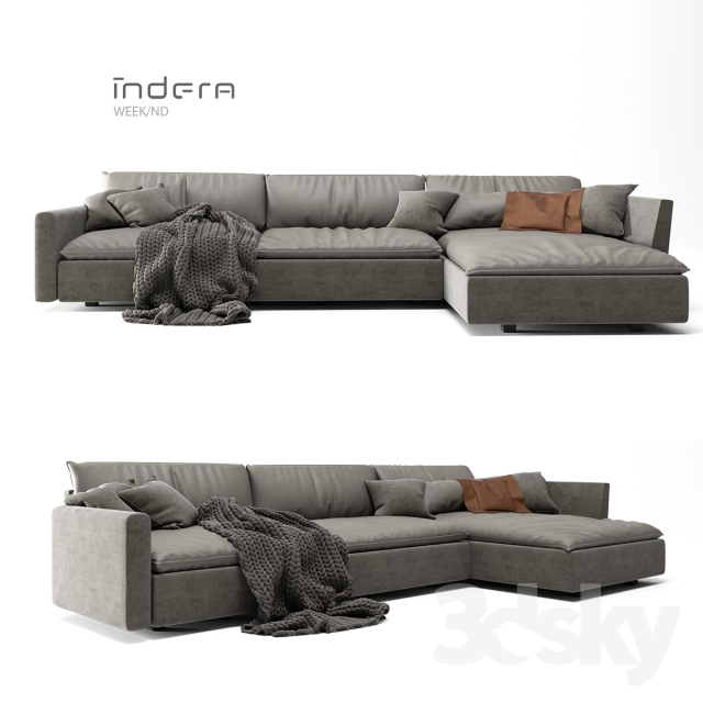 3d models sofa indera sofa week nd. Black Bedroom Furniture Sets. Home Design Ideas