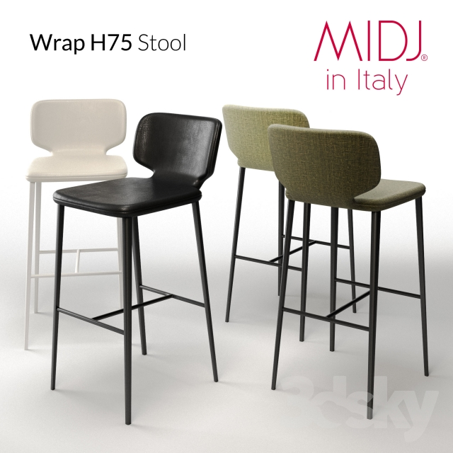 3d Models Chair Wrap H75 Stool MIDJ In Italy