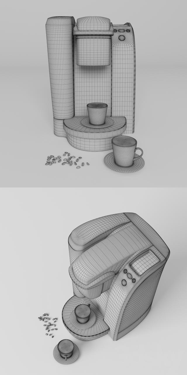 3d models: Kitchen appliance - Keurig K75 Single-Cup Home