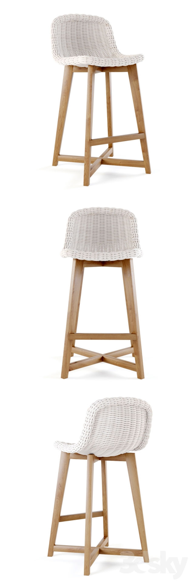 3d Models Chair S2dio Wood And Resin High Chair Norway