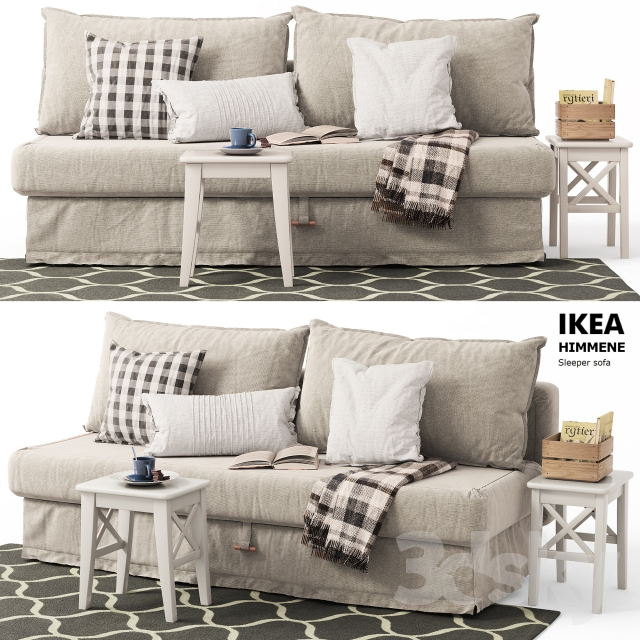 Fantastic 3D Models Sofa Sofa Bed Himmane Ikea Sleeper Sofa Gmtry Best Dining Table And Chair Ideas Images Gmtryco