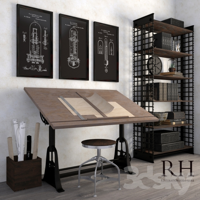 Decorative set in loft style RH