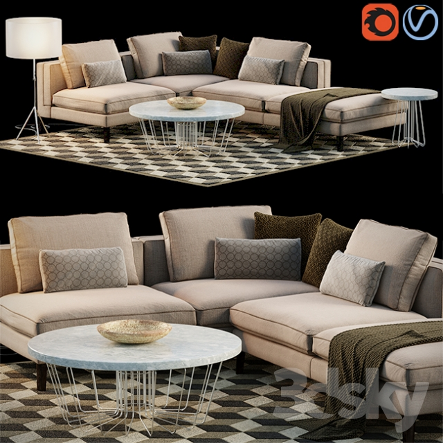 Awe Inspiring 3D Models Sofa Corner Sofa Set Cjindustries Chair Design For Home Cjindustriesco