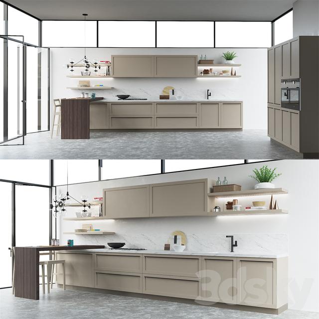 3d Models Kitchen Scavolini Carattere Kitchen