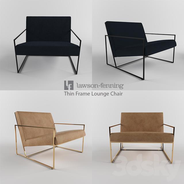 Thin Frame Lounge Chair Lawson Fenning & 3d models: Arm chair - Thin Frame Lounge Chair Lawson Fenning