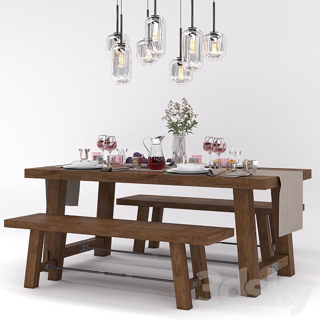 Benchwright Fixed Dining Table: Pottery Barn BENCHWRIGHT FIXED