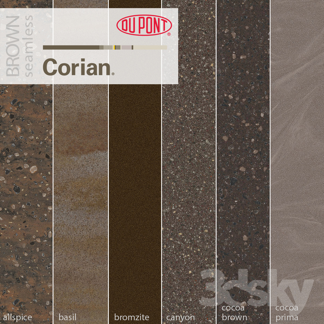 Dupont Corian Kitchen Countertops Brown 2
