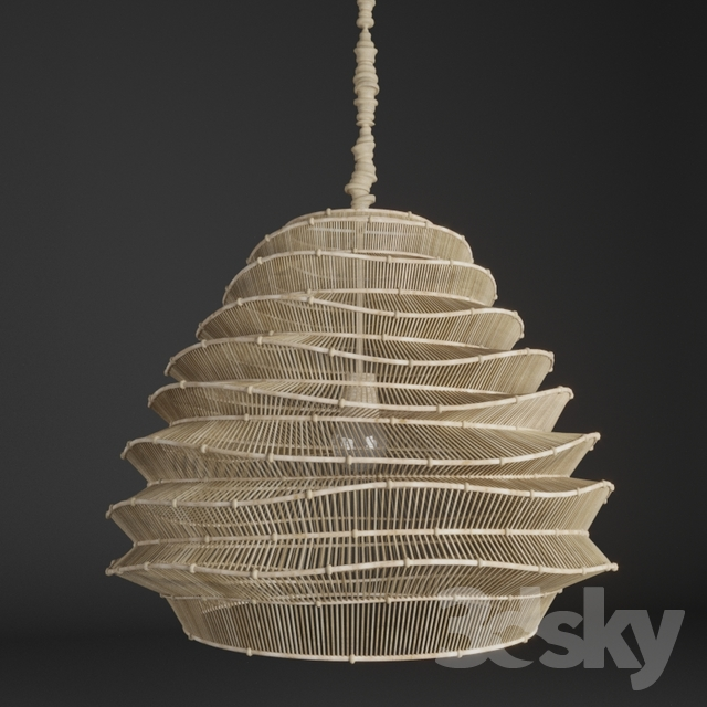 3d Models Ceiling Light Roost Bamboo Cloud Chandelier