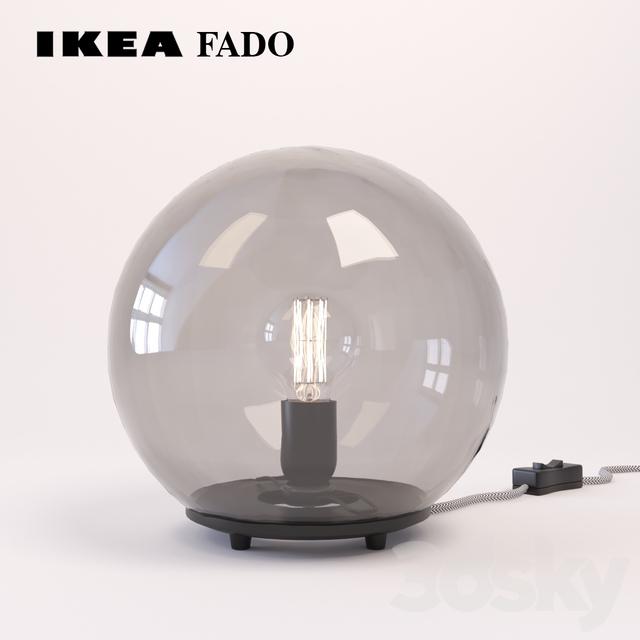 3d models table lamp ikea fado. Black Bedroom Furniture Sets. Home Design Ideas