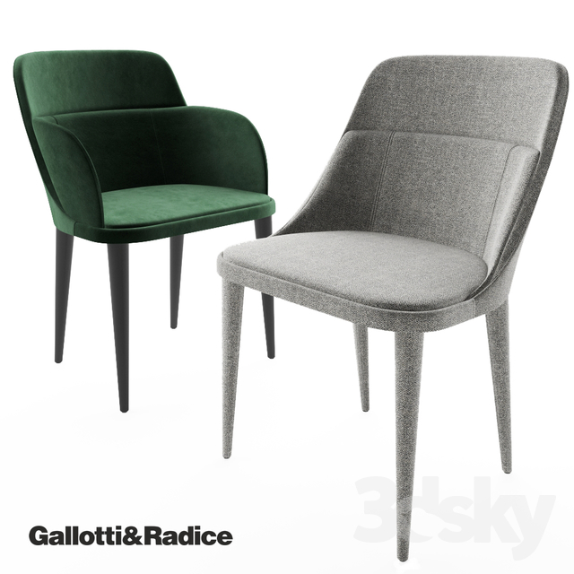 3d Models Chair Gallotti Amp Radice Jackie Chair Jackie