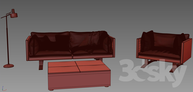3d Models Sofa Elegant Leather Sofa Armchair Alf Dafre