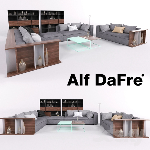 3d Models Sofa Furniture Set Alf Dafre California