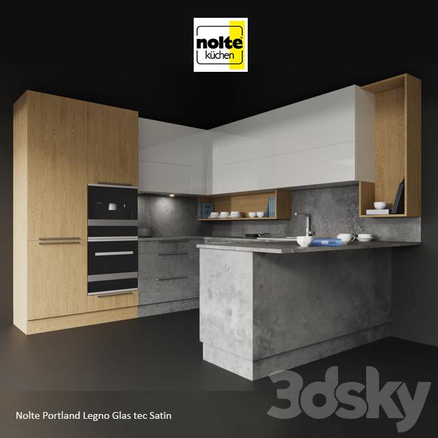 Nolte Glas Tec 3d models kitchen nolte portland legno glas tec satin