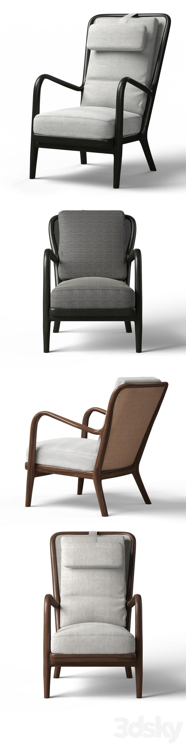 3d Models Arm Chair Flexform Agave Bergere Armchairs