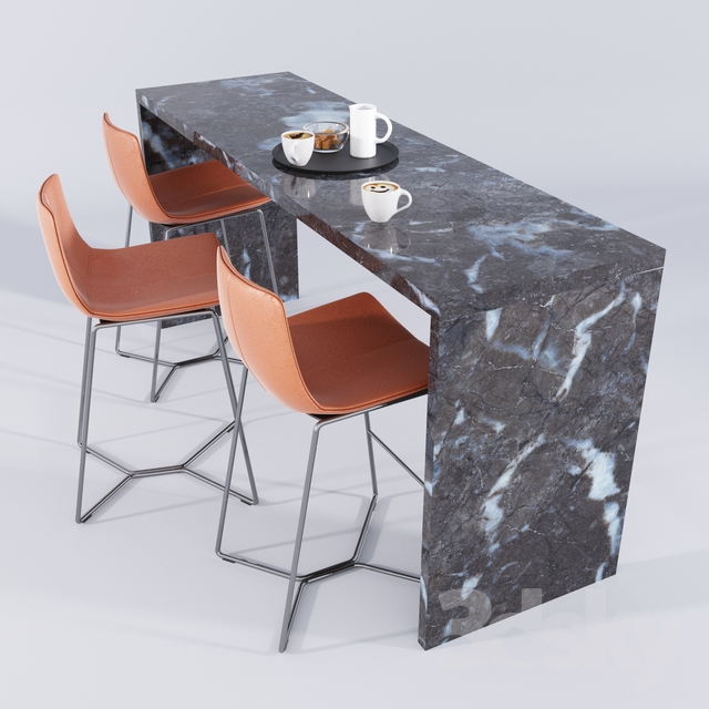 3d Models Chair West Elm Bar Stool