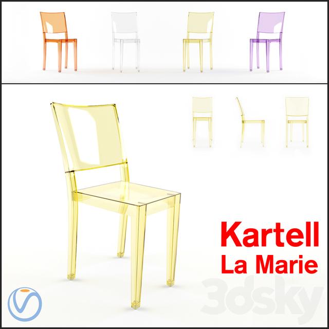 3d models: Chair - Kartell La Marie Chair