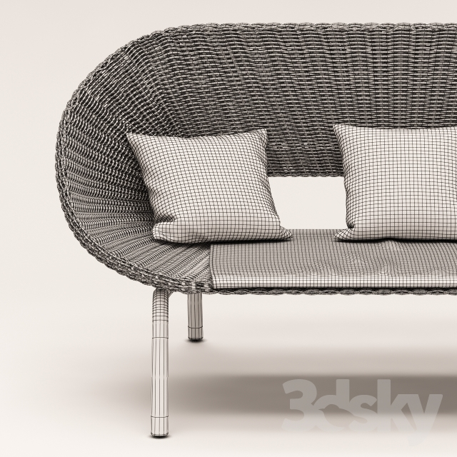 3d models: Other - Sofa and armchair from the collection of Loa, Blooma