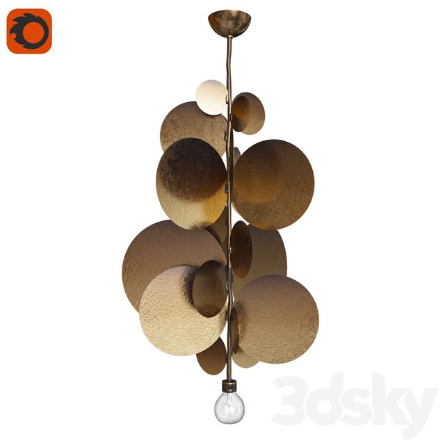 3d models ceiling light chandelier herve van der straeten. Black Bedroom Furniture Sets. Home Design Ideas