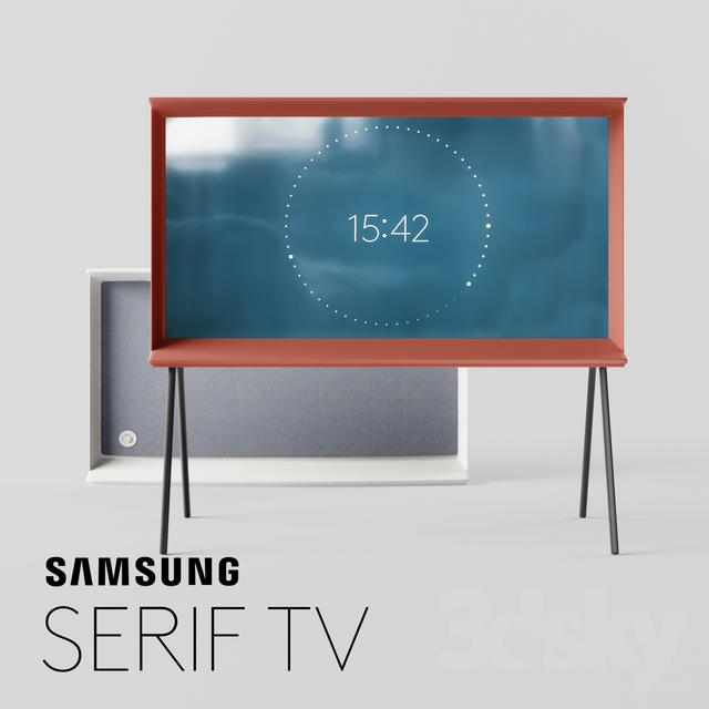3d models tv tv samsung serif. Black Bedroom Furniture Sets. Home Design Ideas