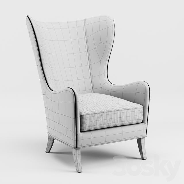 3d Models: Arm Chair   Massoud Viviette Wing Chair