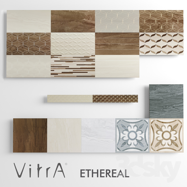 3d Models Tile Vitra Ethereal