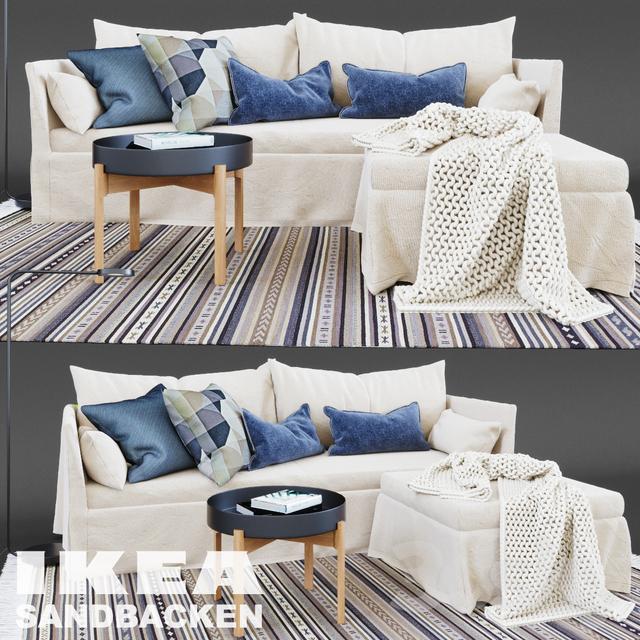 3d Models Sofa Sandbacken 3 Seat Sofa