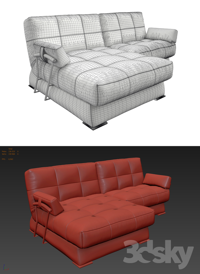3d models sofa sofa dudinka mini. Black Bedroom Furniture Sets. Home Design Ideas