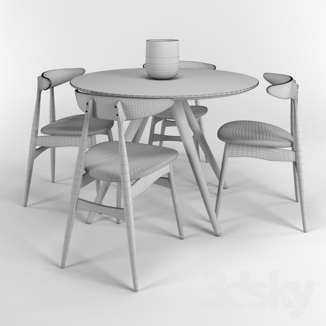 Fabulous 3D Models Table Chair Dining Table And Chairs Hans J Gmtry Best Dining Table And Chair Ideas Images Gmtryco