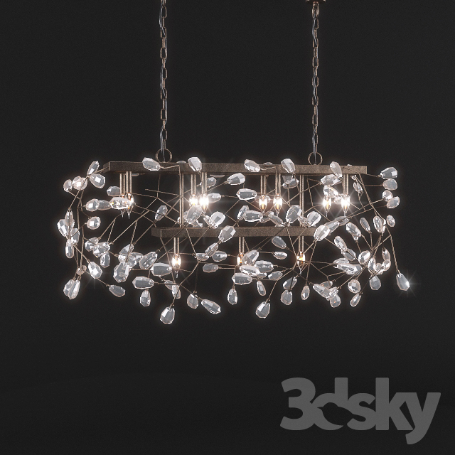 3d Models Ceiling Light Pottery Barn Bella Crystal