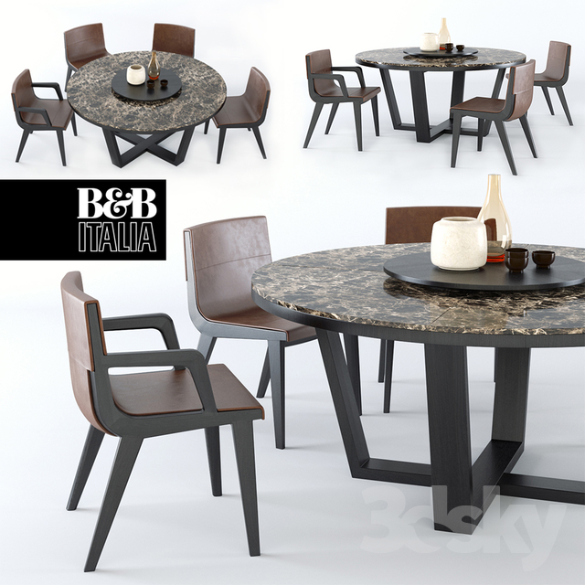 3d models table chair table xilos maxalto acanto. Black Bedroom Furniture Sets. Home Design Ideas