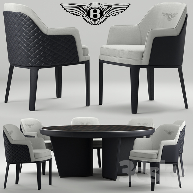Table and chairs bentley kendal chair & 3d models: Table + Chair - Table and chairs bentley kendal chair