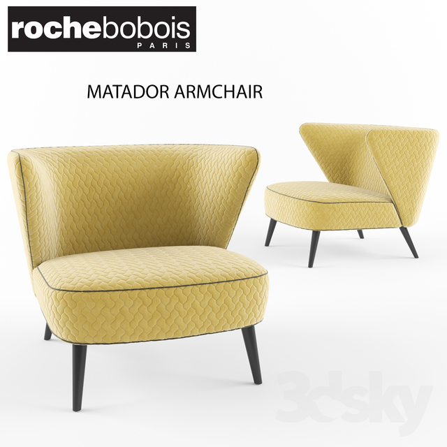 3d Models Arm Chair Roche Bobois Matador Armchair