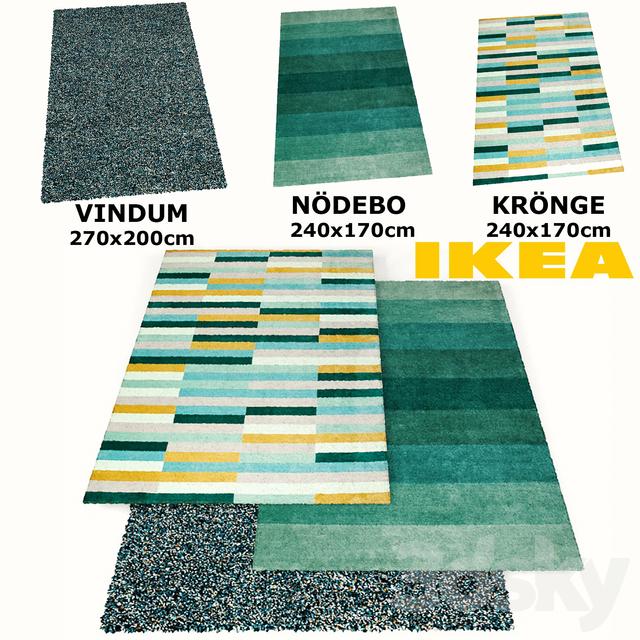 3d Models Carpets Ikea Rugs Set Vindum Kronge Nodebo